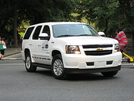 Chevrolet Tahoe Hybrid Chevrolet Tahoe hybrid MLB All Star Game edition at 67 St NYC.jpg