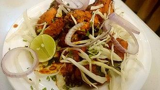 Chicken tikka - Image: Chicken Tikka, Delhi style (14023948639)