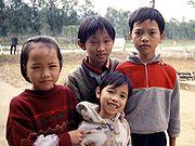 Kinder in Mittel-Vietnam