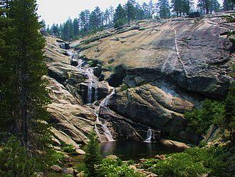 Chilnualna Falls - Pool along the course of Upper Chilnualna Falls.