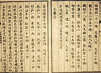 Earliest known written formula for gunpowder, from the Wujing Zongyao manuscript of 1044 AD.