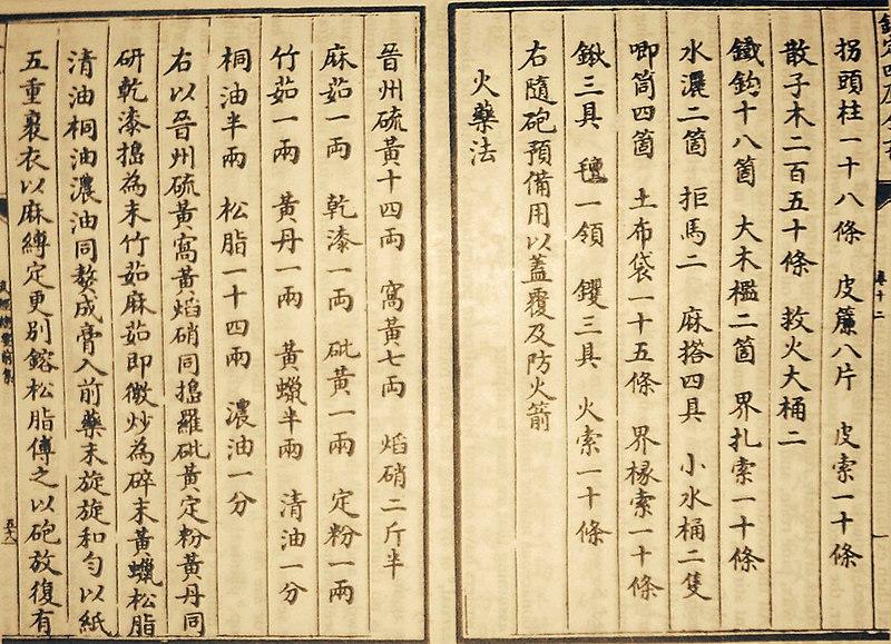 Archivo:Chinese Gunpowder Formula.JPG