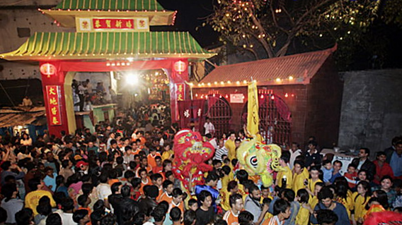 Chinese New Year in Chinatown, Tangra, Kolkata, India