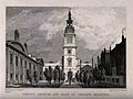 Christ's Hospital, London; the church and the quadrangle. En Wellcome V0013045.jpg