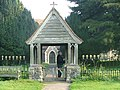 Church gate and War Memorial, St. John, Ickham, Kent - geograph.org.uk - 467790.jpg
