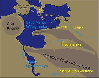 Awallamaya Lake - Sketch map of the area showing the location of Awallamaya Lake