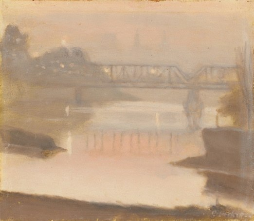 Clarice Beckett - The Yarra, Sunset, 1930