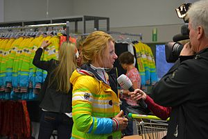 Germany at the 2014 Winter Olympics - Claudia Nystad at the outfitting on media day (20 January) on Erding Air Base