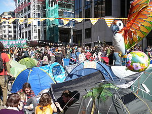 2009 G20 London summit protests - Climate Camp in the City – 1 April 4 pm