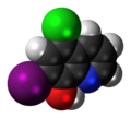 Clioquinol 3D spacefill.png