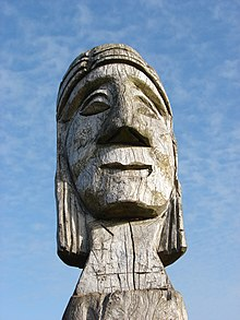 Closeup totem at Cerro Maule near Puerto Saavedra Chile 16 Feb 2009.jpg
