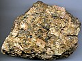 Coarsely-crystalline porphyritic granite (Pikes Peak Batholith (pgpm2 facies), Mesoproterozoic, 1.08 Ga; a little east of summit house atop Pikes Peak, central Colorado, USA) 1.jpg