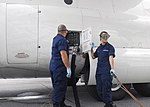 Coast Guard avionics electrical technicians, refuel an HC-130 Hercules aircraft in Kodiak, Alaska 140814-G-FO900-051.jpg