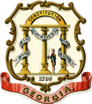 Georgia in the American Civil War - Image: Coat of arms of the State of Georgia (1876)