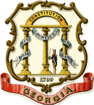 Coats of arms of the U.S. states - Image: Coat of arms of the State of Georgia (1876)