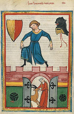House of Sax - The Minnesänger Heinrich von Sax in the Codex Manesse