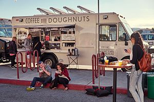 Off the Grid (food organization) - Coffee and doughnuts food truck, Fort Mason, San Francisco