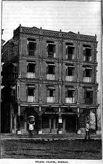 Colaba - Colaba Chapel, Bombay (Clutterbuck, 1889, p. 173)