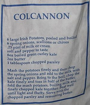 Colcannon - Colcannon recipe on a bag of potatoes