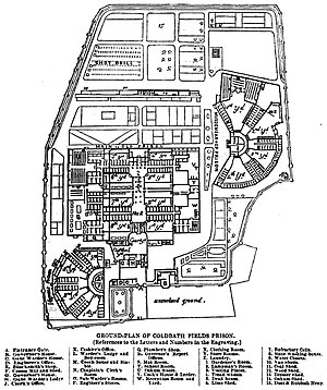 Coldbath Fields Prison - Plan of the prison.