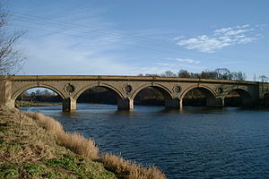 Coldstream Bridge -  The bridge over the River Tweed at Coldstream