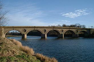 Coldstream Bridge -  The bridge over the River Tweed at Coldstream
