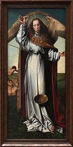 Colijn de Coter - Fragment du retable du jugement dernier - l'archange Saint Michel.jpg