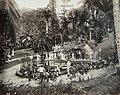 Collectie Nationaal Museum van Wereldculturen TM-60061951 Groepsfoto van toeristen in de Castleton botanische tuin, rond een vijver met waterlelies en omringd door palmen Jamaica fotograaf niet bekend.jpg