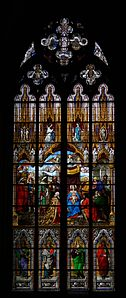 Cologne Cathedral window, interior view (1)