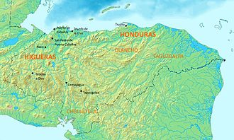 Spanish conquest of Honduras - Early settlements and regions of 16th-century Honduras