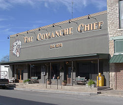 Comanche Chief newspaper office