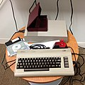 Commodore 64, Commodore 1541 floppy disk drive, and Joystick.jpg