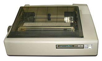 Commodore bus - Image: Commodore Matrixdrucker MPS 802 (weißen hintergrund)