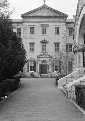 Convent and Academy of the Visitation - The east building was built in 1855 and serves as the main entrance to the convent.