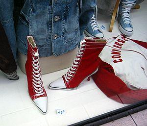 English: Converse high fashion, Paris, Decembe...