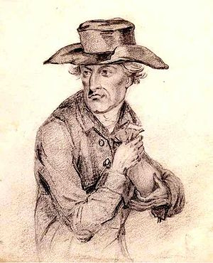 Miser - A pencil drawing of Daniel Dancer by Richard Cooper Jr, 1790s