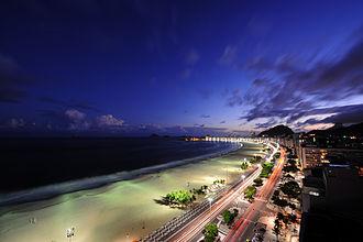 Copacabana, Rio de Janeiro - Copacabana at dusk