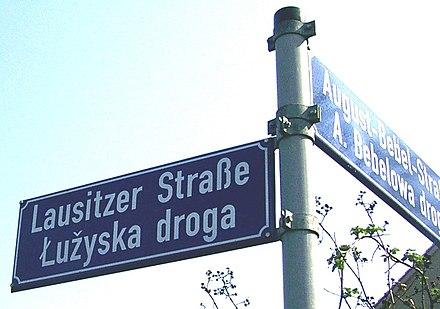 Dwujęzyczne nazwy ulic w Chociebużu
