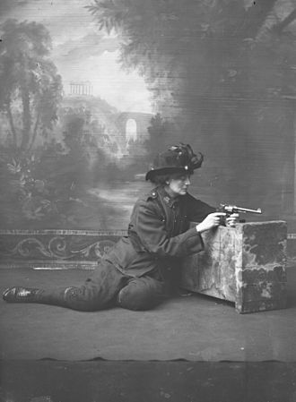 Protestant Irish nationalists - Countess Markievicz on stage, probably in the Abbey Theatre