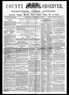 <i>County Observer and Monmouthshire Central Advertiser</i> weekly newspaper