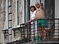 Couple on Balcony - Przemysl - Poland (35564135223).jpg