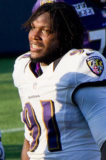 American football linebacker