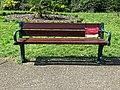 Covid-19 pandemic Downhills Park Ornamental Garden bench sign Tottenham London 1.jpg