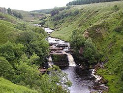 Crammel Linn waterfall, River Irthing.jpg