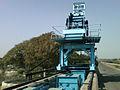 Crane at Osmansagar Dam in Gandipet.jpg