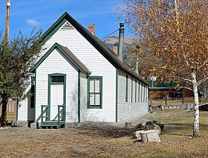National Register of Historic Places listings in Saguache County, Colorado - Image: Crestone School