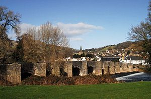 Crickhowell Bridge - Crickhowell Bridge and town viewed from the southwest