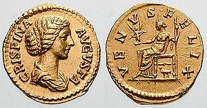 Bruttia Crispina - Empress Bruttia Crispina, draped bust