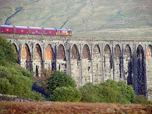 Crossing Ribblehead Viaduct (geograph 2095055)