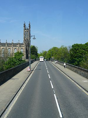Dean Bridge - Telford's bridge carries the bulk of traffic from the city's West End to its north-west suburbs.